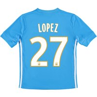 Olympique de Marseille Away Shirt 2017-18 - Kids with Lopez 27 printing