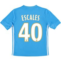 Olympique de Marseille Away Shirt 2017-18 - Kids with Escales 40 printing