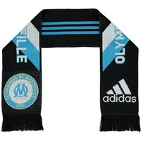 Olympique de Marseille 3 Stripe Scarf - Black/Om Blue/Core White