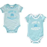 Olympique de Marseille Made in Marseille Pack of 2 Bodysuits - Blue - Baby Boys