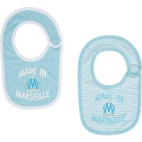 Olympique de Marseille Made in Marseille Pack of 2 Bibs - Blue - Baby Boys