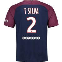 Paris Saint-Germain Home Stadium Shirt 2017-18 with Silva 2 printing
