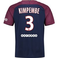 Paris Saint-Germain Home Stadium Shirt 2017-18 with Kimpembe 3 printing