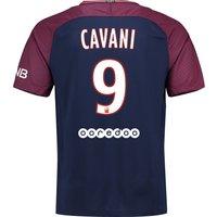 Paris Saint-Germain Home Stadium Shirt 2017-18 with Cavani 9 printing