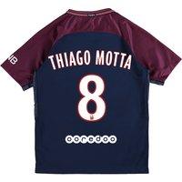 Paris Saint-Germain Home Stadium Shirt 2017-18 - Kids with Thiago Motta 8 printing