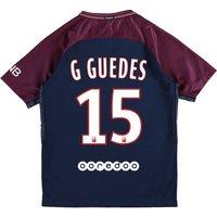Paris Saint-Germain Home Stadium Shirt 2017-18 - Kids with G.Guedes 15 printing