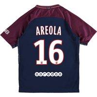 Paris Saint-Germain Home Stadium Shirt 2017-18 - Kids with Areola 16 printing