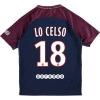Paris Saint-Germain Home Stadium Shirt 2017-18 - Kids with Lo Celso 18 printing