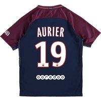 Paris Saint-Germain Home Stadium Shirt 2017-18 - Kids with Aurier 19 printing