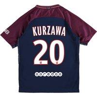 Paris Saint-Germain Home Stadium Shirt 2017-18 - Kids with Kurzawa 20 printing