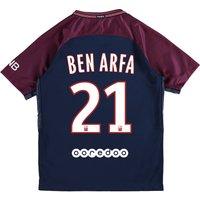 Paris Saint-Germain Home Stadium Shirt 2017-18 - Kids with Ben Arfa 21 printing