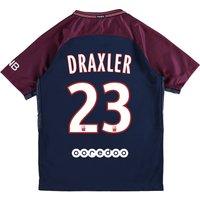 Paris Saint-Germain Home Stadium Shirt 2017-18 - Kids with Draxler 23 printing