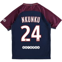Paris Saint-Germain Home Stadium Shirt 2017-18 - Kids with Nkunku 24 printing