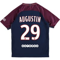 Paris Saint-Germain Home Stadium Shirt 2017-18 - Kids with Augustin 29 printing