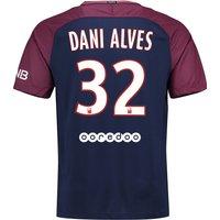 Paris Saint-Germain Home Stadium Shirt 2017-18 with Dani Alves 32 printing