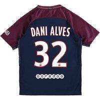 Paris Saint-Germain Home Stadium Shirt 2017-18 - Kids with Dani Alves 32 printing