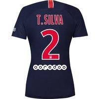 Paris Saint-Germain Home Vapor Match Shirt 2018-19 - Womens with Silva 2 printing