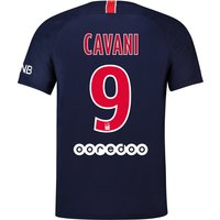 Paris Saint-Germain Home Stadium Shirt 2018-19 with Cavani 9 printing