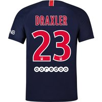 Paris Saint-Germain Home Stadium Shirt 2018-19 with Draxler 23 printing