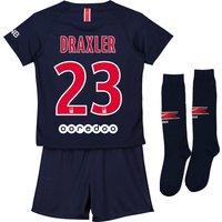 Paris Saint-Germain Home Stadium Kit 2018-19 - Little Kids with Draxler 23 printing