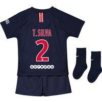 Paris Saint-Germain Home Stadium Kit 2018-19 - Infants with Silva 2 printing