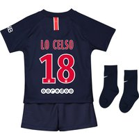 Paris Saint-Germain Home Stadium Kit 2018-19 - Infants with Lo Celso 18 printing