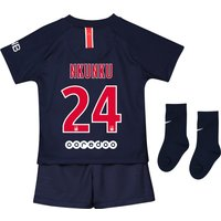 Paris Saint-Germain Home Stadium Kit 2018-19 - Infants with Nkunku 24 printing