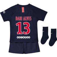 Paris Saint-Germain Home Stadium Kit 2018-19 - Infants with Dani Alves 13 printing