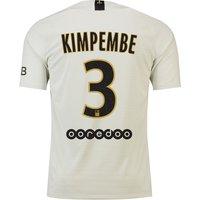 Paris Saint-Germain Away Vapor Match Shirt 2018-19 with Kimpembe 3 printing