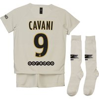 Paris Saint-Germain Away Stadium Kit 2018-19 - Little Kids with Cavani 9 printing