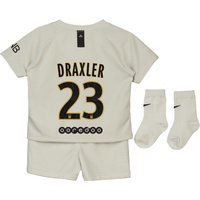Paris Saint-Germain Away Stadium Kit 2018-19 - Infants with Draxler 23 printing