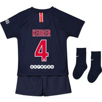 Paris Saint-Germain Home Stadium Kit 2018-19 - Infants with Kehrer  4 printing