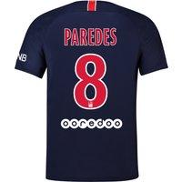 Paris Saint-Germain Home Stadium Shirt 2018-19 with Paredes 8 printing