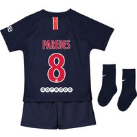 Paris Saint-Germain Home Stadium Kit 2018-19 - Infants with Paredes 8 printing