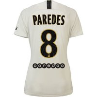 Paris Saint-Germain Away Stadium Shirt 2018-19 - Womens with Paredes 8 printing