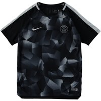 Paris Saint-Germain Squad Pre Match Top - Black - Kids