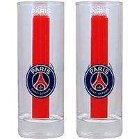 Paris Saint-Germain Crest Water Glasses - Pack of 2