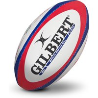 Gilbert Replica Rugby Ball - Midi - White/Red/Blue