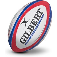 Gilbert Replica Rugby Ball - Mini - White/Red/Blue