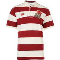 England 1871 Wide Stripe Polo White