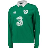 Ireland Home Classic Long Sleeve Rugby Shirt 2014/15 Green