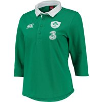 Ireland Home Classic 3/4 Sleeve Rugby Shirt 2014/15 - Womens Green
