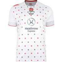 England Home Sevens S/S Rugby Pro Shirt 2014/15 White