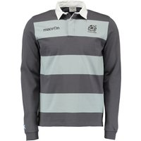 Scotland Rugby Top Heavy Cotton Long Sleeve Grey