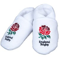 England Fleece Baby Slippers - White
