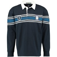 RBS Six Nations Classic Long Sleeved Rugby Shirt - Navy/White