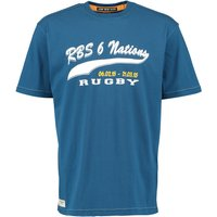 RBS Six Nations Heritage Script Print T-Shirt - Washed Blue