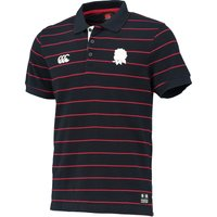 England Stripe Polo Navy
