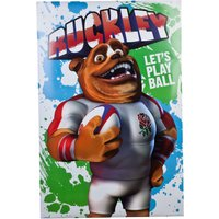 England Rugby Ruckley Lets Play Ball Maxi Poster 24 x 36 in
