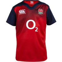 England Rugby Training Short Sleeve Pro Rugby Top - Kids Red
